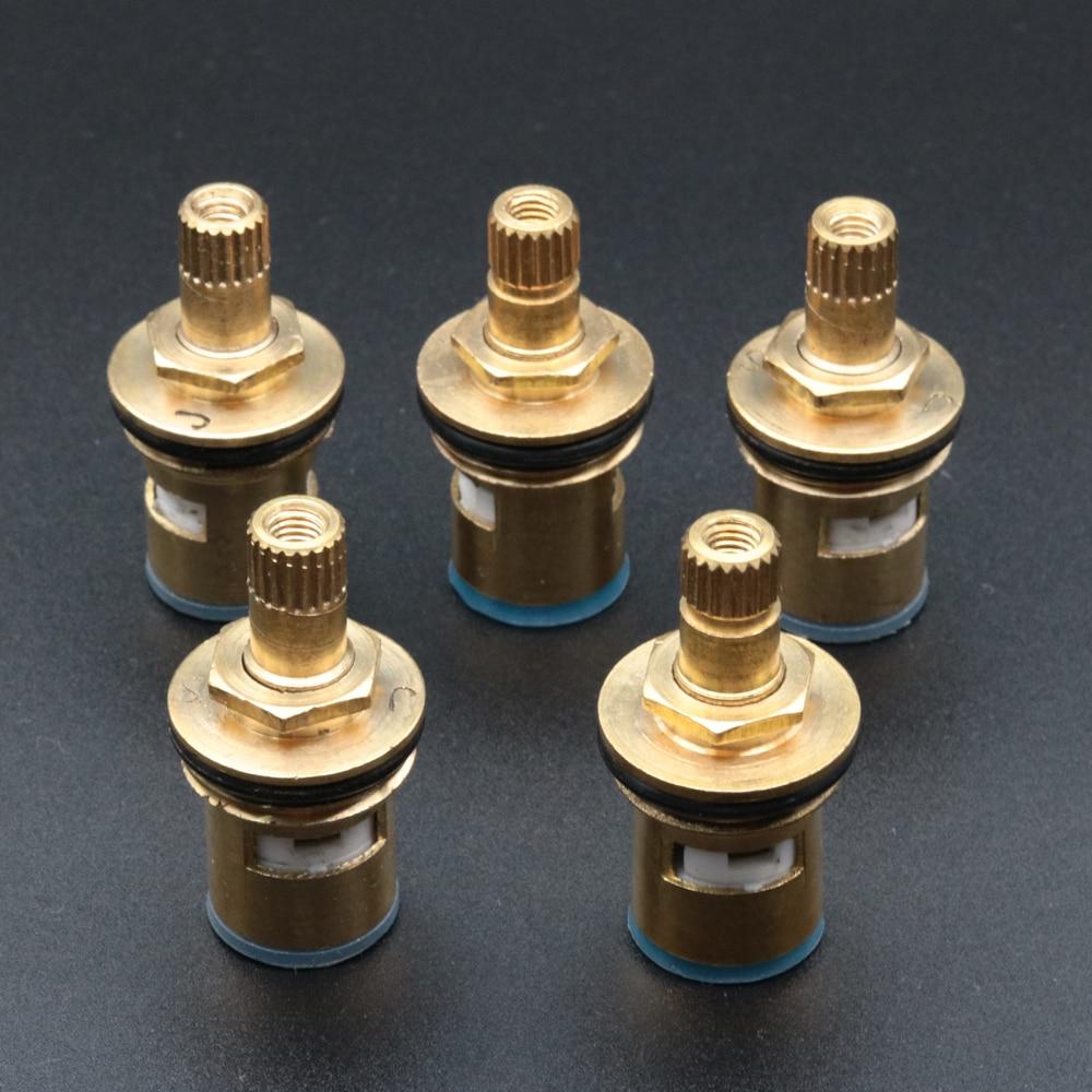 5pcs Brass Ceramic Cartridge Faucet Valve Core Home