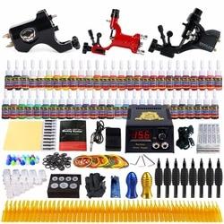 Beginner Starter Compleet Tattoo Kit Professionele Tattoo Machine Kit Rotary Machine Guns 54 Inks Voeding Grips Set TK355