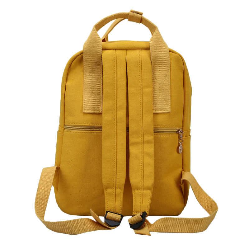2018 холщовый женский рюкзак для подростков девочек Повседневная стильная школьная женская сумка-рюкзак женский рюкзак Mochila