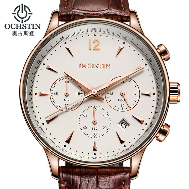 2017 Mens Watches Top Brand Luxury OCHSTIN Men Military Sport Wrist Watch Chronograph Saat Quartz Watch Relogio Masculino