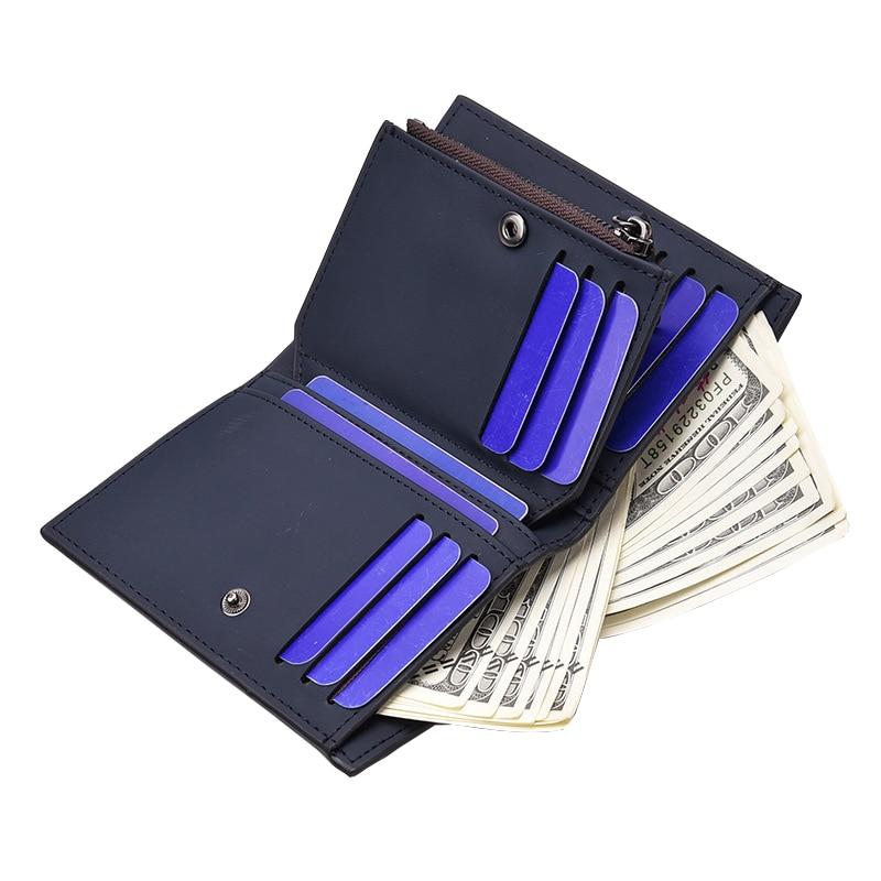 carteira dos homens com bolso Men Leather Wallet Tipo de Ítem : Men Wallets
