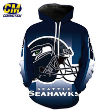 7d5b07dc588 NFL American football 3D hooded sweatshirt pullover Seattle Seahawks  Dropshipping