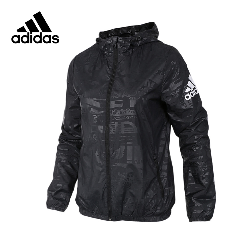 Adidas Original New Arrival Official NEO Women's Windproof Wovan Jacket Hooded Sportswear CF3650 adidas new arrival official ess 3s crew men s jacket breathable pullover sportswear bq9645