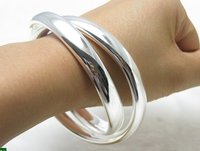Free Shipping Wholesale 925 Sterling Silver Fashion Jewelry 925 Silver Bangle Cuff 925 Silver Bangle Wholesale