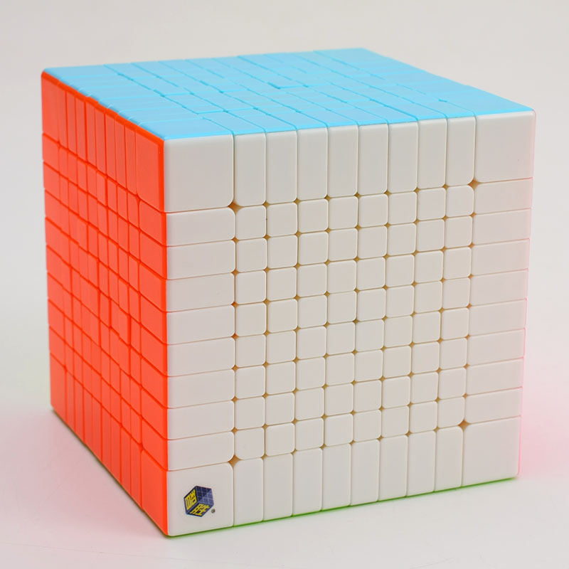 Original Yuxin Huanglong 10x10x10 Cube Zhisheng Speed Cube Puzzle 10Layer Twist Spring 10x10 Cubo Magico Learning