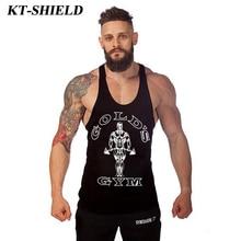 Golds Cotton Fitness Men Tank Tops Bodybuilding Stringer Men Sleeveless Shirt Singlets Vests Undershirt Muscle Tops