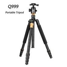 Q999 QZSD Fotográfico Profissional Portátil Tripé Para Monopé + Bola Cabeça Para DSLR Camera Digital SLR Dobre 43 cm Max carga 15Kg