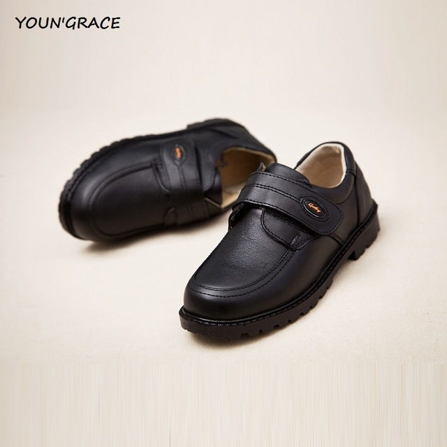 2016 New Design Kids Genuine Leather Wedding Dress Shoes for Boys Brand Children Black Wedding Shoes Boys Sports Sneakers, S011