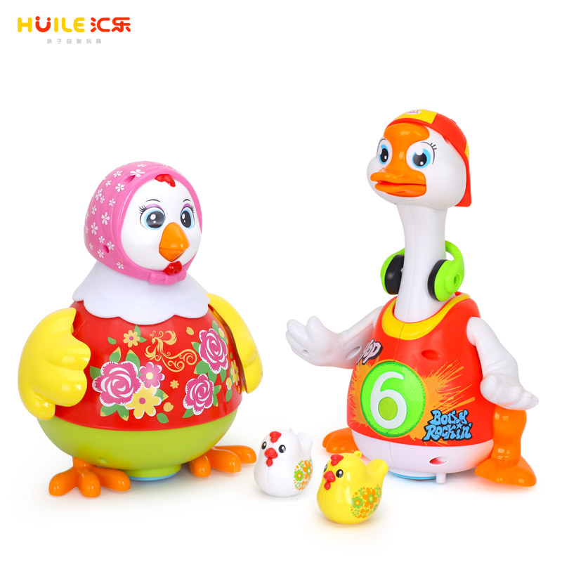 Hot Selling Children Educational Dancing Hen and Whistle Chick & Dancing Goose HUILE TOYS 828&6102 hot sale 1000g dynamic amazing diy educational toys no mess indoor magic play sand children toys mars space sand