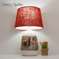 The Nordic Minimalist Creative Ceramics Living Room Lamp Study Bedroom Bedside Lamp Romantic Wedding Room Decoration