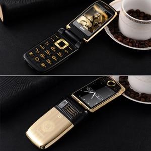 Image 5 - BLT V998 flip הכפול מסך כפול שני מסך בכיר טלפון נייד רטט מגע מסך כפול SIM קסם קול טלפון סלולרי p077