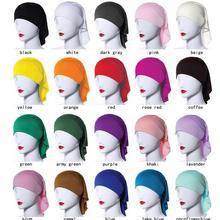 Горячая Распродажа, дизайнерская, полностью закрывающая, внутренняя, мусульманская, хлопковая, хиджаб, шапка, мусульманская, головной убор, головной убор, шарф TC302, женская, мусульманская шапка, 20 шт./лот