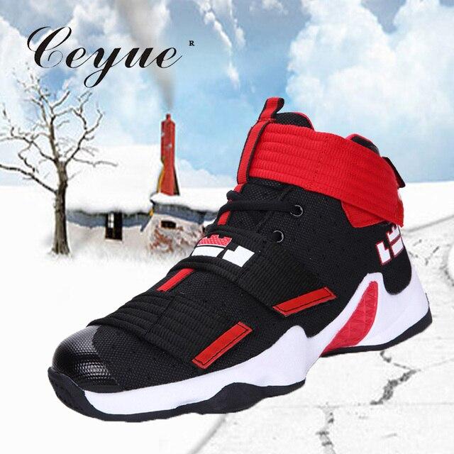 bas prix 4549b 0e0a4 € 36.24 |Ceyue 2019 hommes basket chaussures Lebron James chaussures  baskets montantes cheville chaussure coussin d'air antichoc basket homme ...