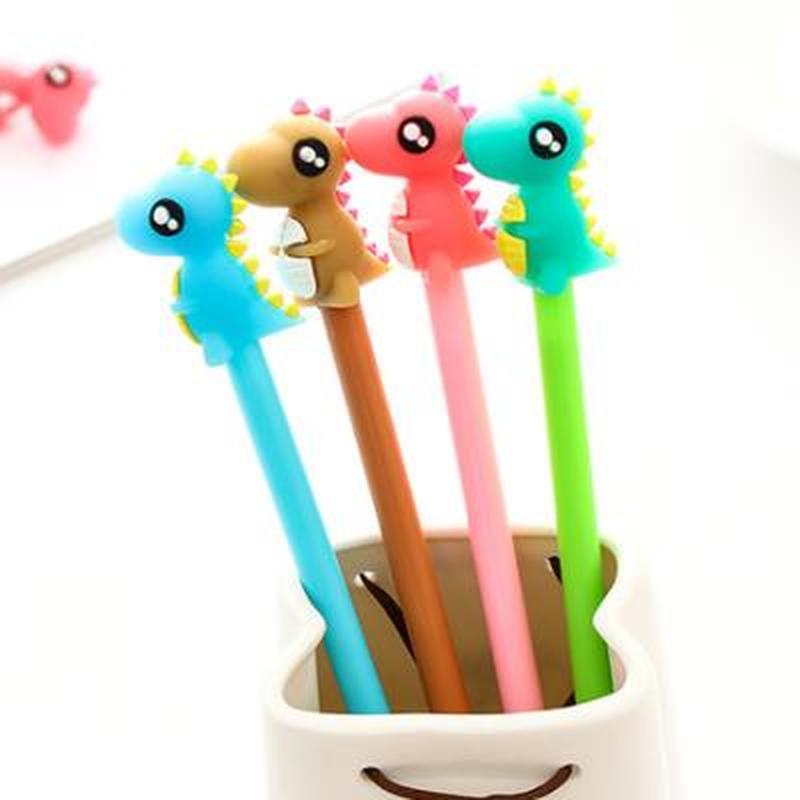 Little Monster Gel Pen Cute Stationary Cute Cartoon Gel Pens 0.5mm Kawaii School Supplies Student Novelty Black Signature Pen