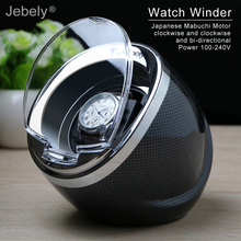 Jebely Black Single Watch Winder for automatic watches automatic winder Multi function 5 Modes Watch Winders