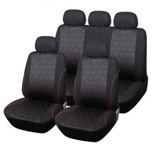 Hot Sale Soccer Ball Style Jacquard Full Car Seat Covers Set Universal Fit Most Interior Accessories