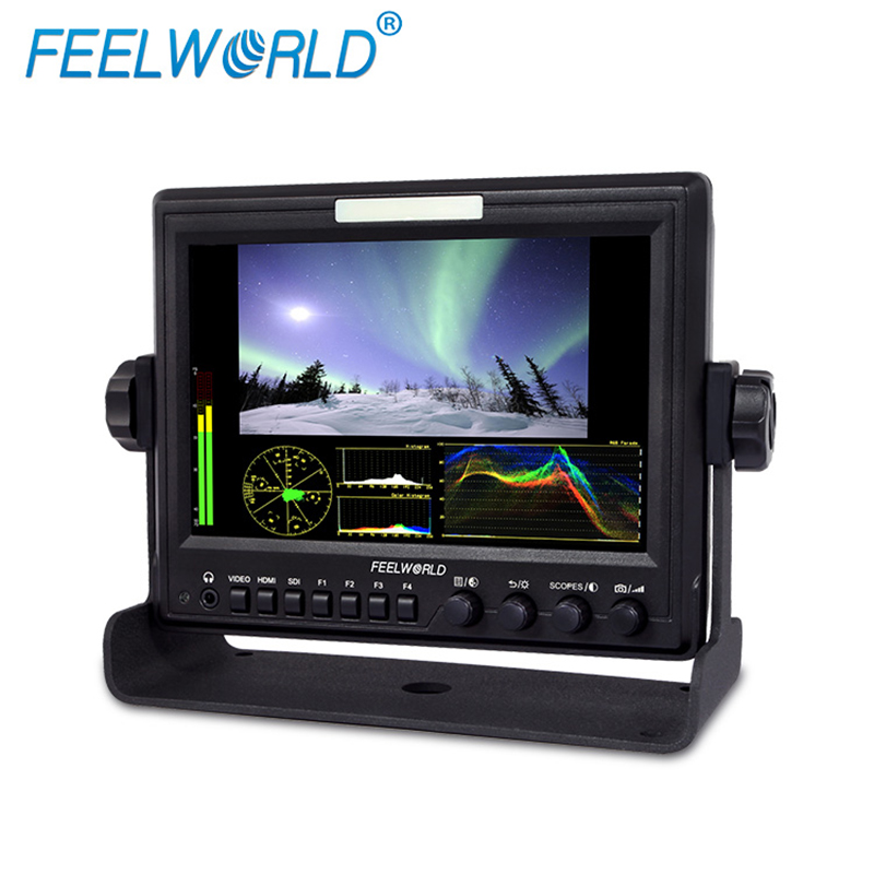 Feelworld Z7 7 Inch IPS 1280x800 Field Monitor with Waveform Scopes and HDMI to SDI Output Photo Studio Camera LCD Monitor f450 4 5 inch ips 1280x800 hd 4k field lcd camera monitor with hdmi input output uhd peaking focus and other monitor accessory