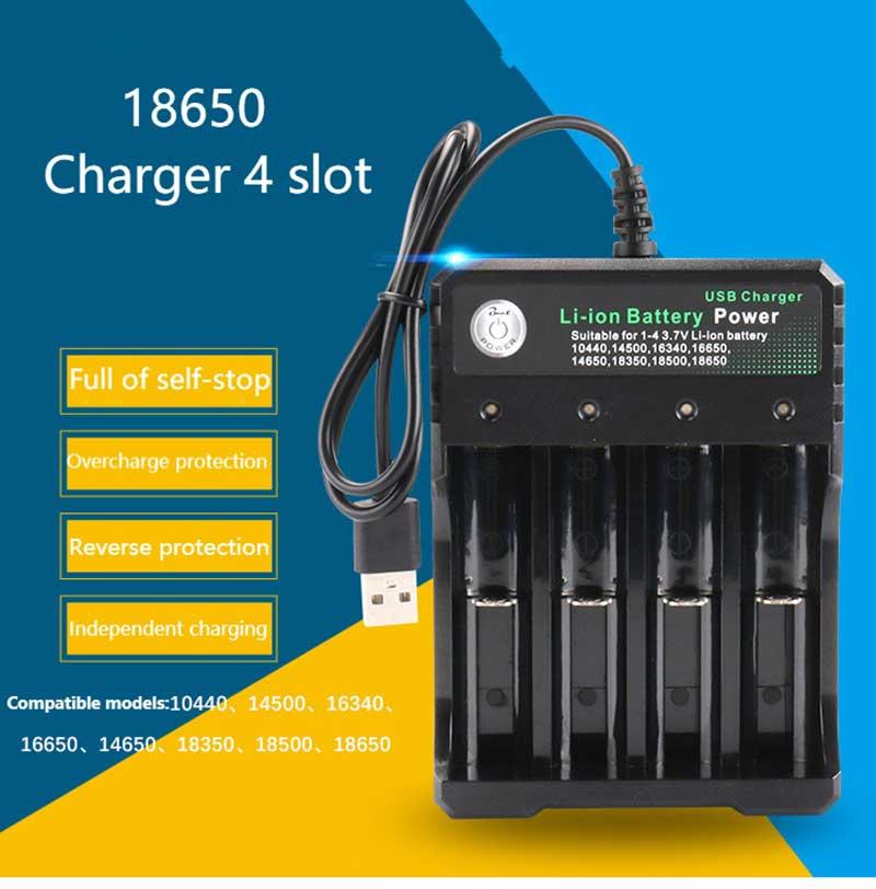 Rovtop 18650 зарядное устройство Черный 2 слота переменного тока 110 В 220 В двойной для 18650 зарядки 3,7 в перезаряжаемая литиевая батарея