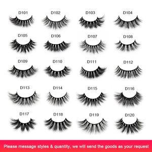 Image 2 - Visofree 25 pairs/lot Eyelashes 3D Mink Lashes Handmade Dramatic Lashes Mink Collection Full Volume False Eyelash Makeup cilios