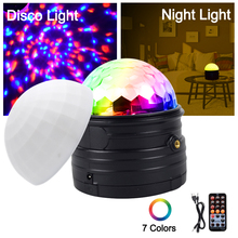 YSH Sound Activated Disco Ball Light LED DJ Party Projector Lights RGB Stage Lighting Effect Night Light For Home KTV Wedding цена