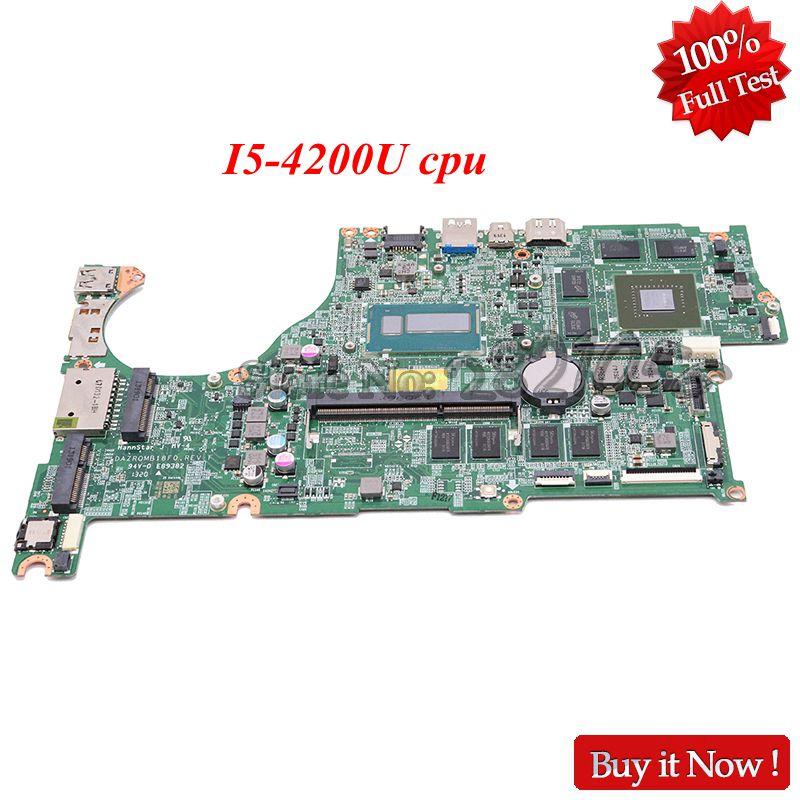 NOKOTION Laptop Motherboard For Acer Aspire V5-573 V5-573G DAZRQMB18F0 REV F NBMCC11001 NB.MCC11.001 GT750M I5-4200U
