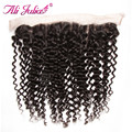 Malaysian Curly Lace Frontal Cheap Lace Frontal Closure 13x4 inch Ear to Ear Full Lace Closure Ali Julia Malaysian Virgin Hair