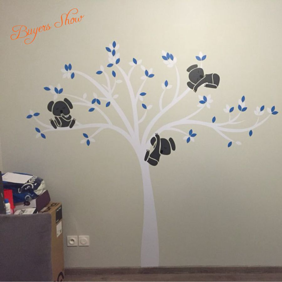Aliexpress.com : Buy Large Size Bear U0026 Tree Wall Sticker For Kids , Koala  Cartoon Nursery Daycare Baby Room Vinyl Decor Decal Free Shipping From  Reliable ... Part 28