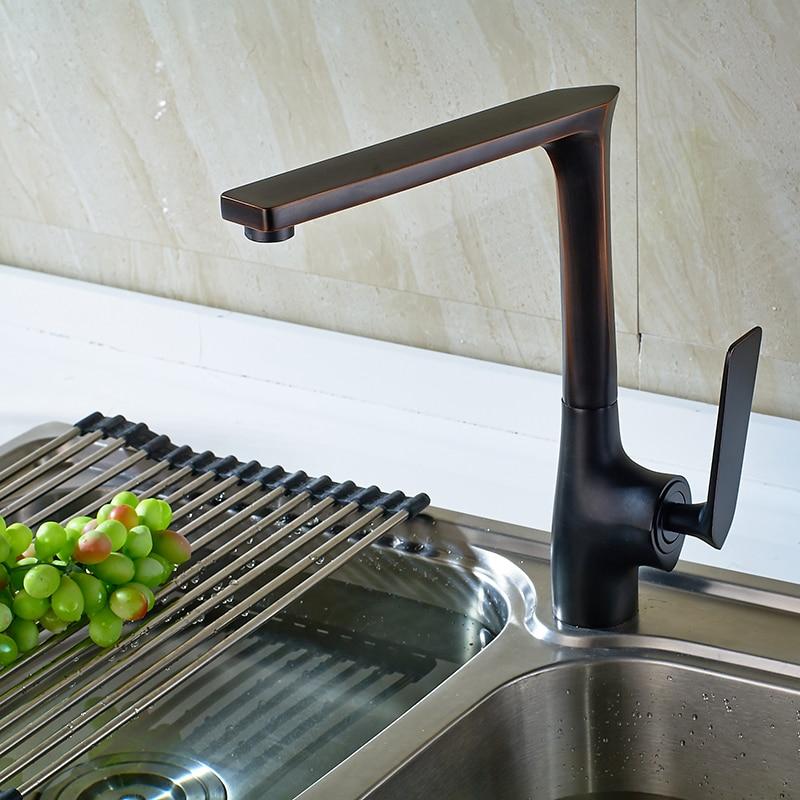 Robinet de cuisine SHAI ORB Casting robinet d'eau froide et chaude pour robinet d'eau de cuisine robinet de haute qualité robinet mélangeur rétro 360 degrés