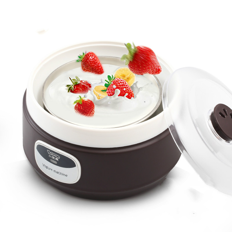 Electric Multi Yogurt Rice Wine Natto Maker Machine Household Stainless Steel 4 Glass Cups Constant Temperature Fermented natto yogurt makers household fully automatic yogurt machine with glass liner timing rice wine machine 4 sub cup green