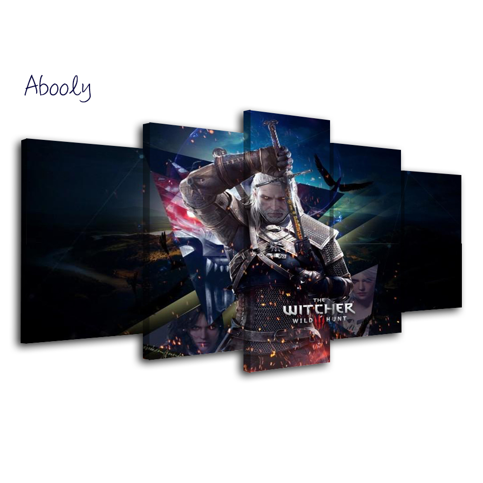 5 Piece Wall Picture Games Painting Cuadros Decorative