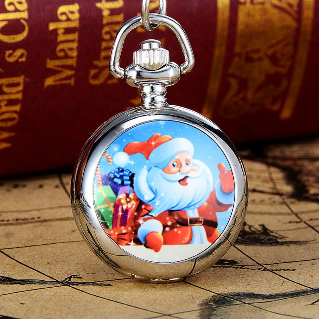 #5001Christmas Vintage Style Pocket Chain Necklace Watch Christmas Gift Pocket Watch  DROPSHIPPING New Freeshipping Hot sales