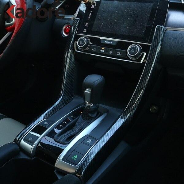 Civic Sedan Interior: For Civic 2016 2017 2018 Sedan ABS Matte Carbon Fiber