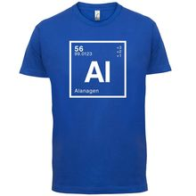 ALANA Periodic Element - Mens T-Shirt Geeky / Chemistry 13 Colours Print T Shirt Short Sleeve Hot Tops Tshirt Homme