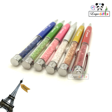 Diamond pen 2017 more than 10 colors for your choose custom printed with company logo/email/website/telephone 10pcs a lot