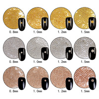 1 Set New Arrive Rose Gold Gold Silver 3 Colors Small Metal Steel Beads Nail Art