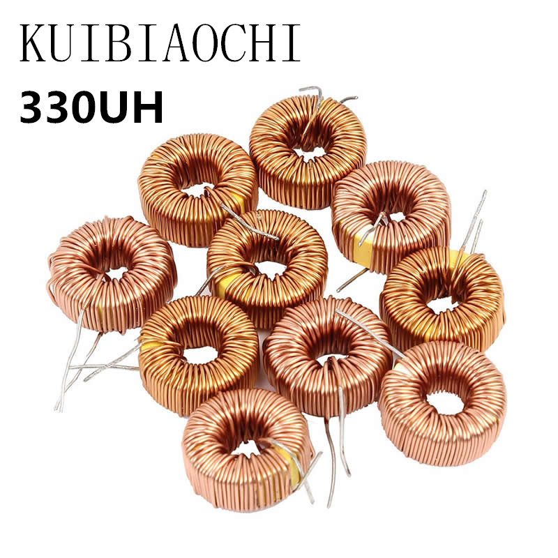 5PCS/lot Toroid core Inductors 3A Winding Magnetic Inductance 330uH Inductor