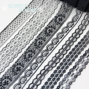 (10 yards/roll) Black lace fabric Webbing Decoration Lovely gift packing Material