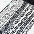 (10 yards/roll) Schwarz spitze stoff Gurtband Dekoration Schöne geschenk verpackung Material Spitze    -