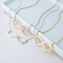 Personalized Name Infinity Necklace Stainless Steel Chain Pendant Friendship Jewelry Femme Bridesmaid Gift