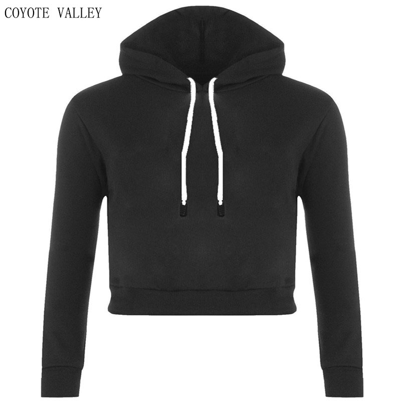 COYOTE VALLEY 2017 hot style in Europe and the sexy midriff brief paragraph quality fleece female hooded head set bts unicorn
