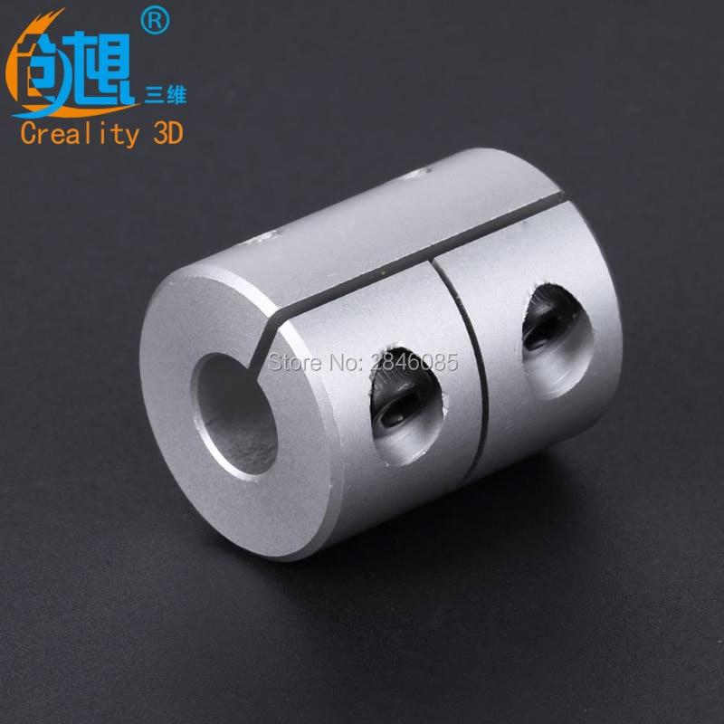 Neue Upgrade Creality CR-10 Z-Achse 5x8x26mm Kiefer Welle Koppler 5mm Zu 8mm Flexible Starre Kupplung Router Stecker für 3D Drucker