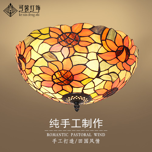 European garden balcony bedroom corridors lobby ceiling lamps Tiffany art LED corridor lamp цена 2017