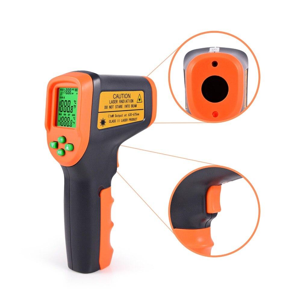 EHDIS лазерной ЖК-дисплей цифровой инфракрасный термометр-контактная поверхность Температура метр пистолет-50 ~ 650 C термометр пирометр Imager
