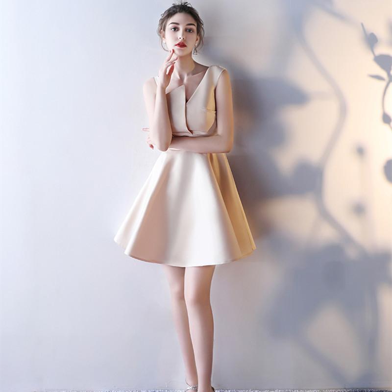 71fa6766e0e abule 2017 summer party short evening dresses straight Homecoming dress  Vestido de Festa gown sleeveless Robe De Soiree-in Evening Dresses from  Weddings ...