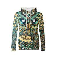 3D Printed Hoodie Women Vrouwen Owl Watching You Streetwear Hooded Sweatshirt Harajuku Shirt Pollover Busos Para Mujer