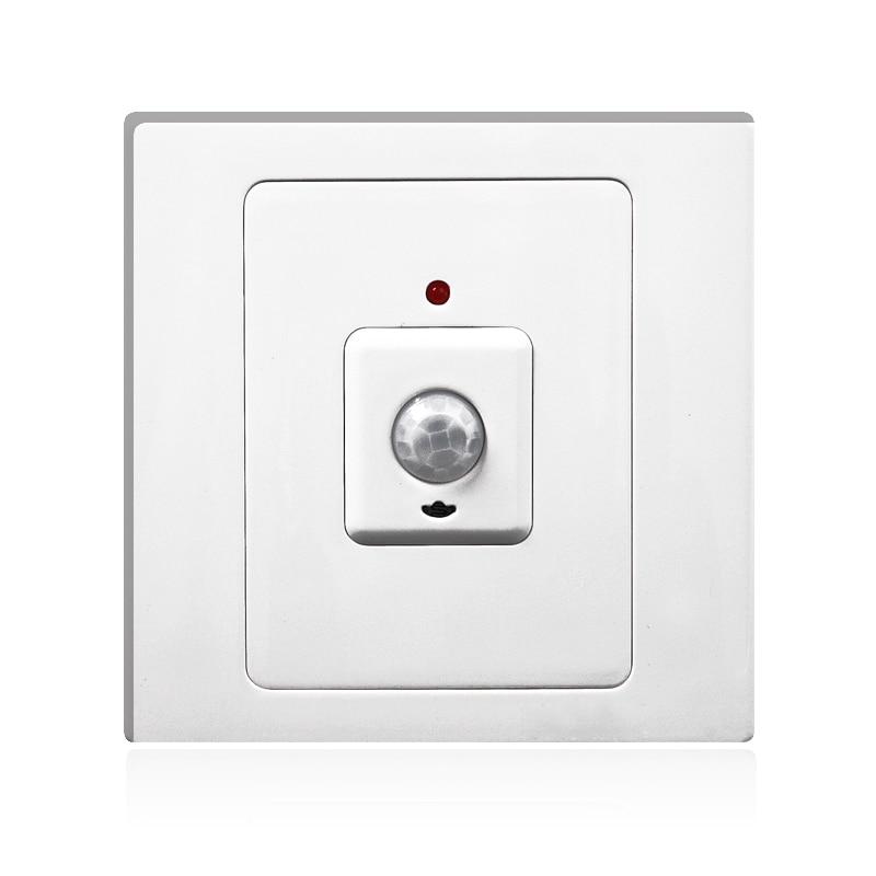Interrupteur de capteur Intelligent délai de lumière interrupteur infrarouge réglable 86 220 v brt-300c