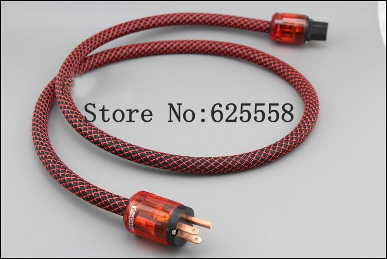 2M Hifi  audio  FP-314Ag  Power cable with US P046E+C046E IEC  for hifi Video