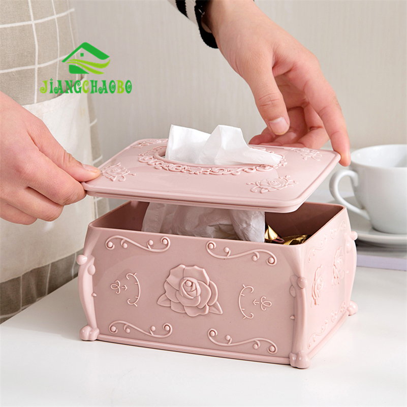 European Style Plastic Tissue Boxes Home Coffee Table Pumping Paper ...