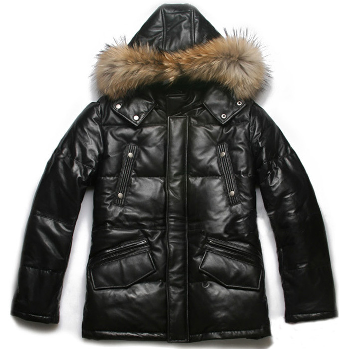 Aliexpress.com : Buy Avirex down filled leather bubble jacket ...