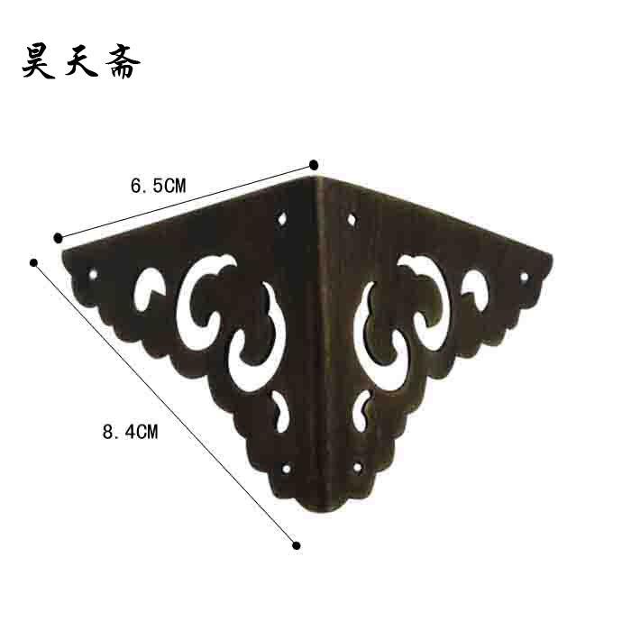 [Haotian vegetarian] antique copper wrap angle / corner piece / antique furniture copper fittings HTG-010